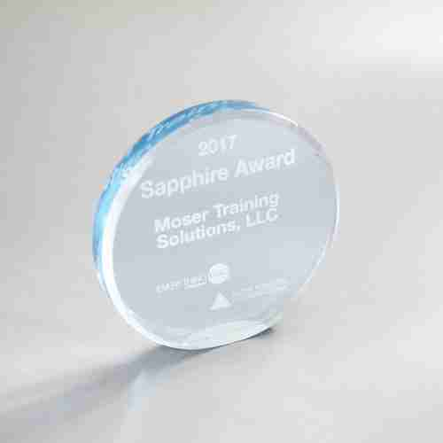 Round Shape Acrylic Award Blanks