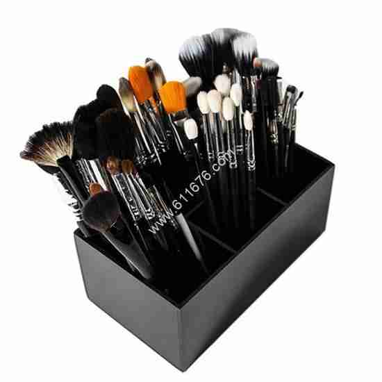 Black Makeup And Brush Organizer Stand