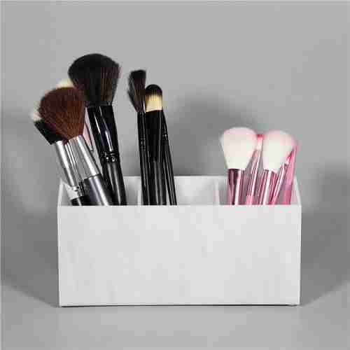 3 Dividers Acrylic Lucite Brush Holder