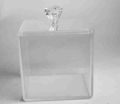 Acrylic high-transparent cotton pad storage box
