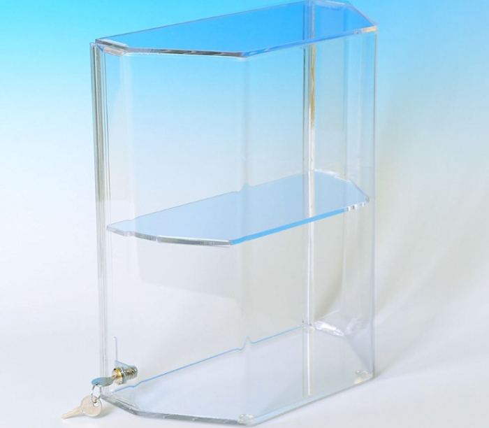 Acrylic Display Case Dormer Case with Shelves and Slide Up D