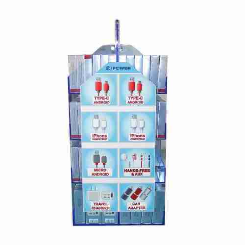 Double Sided Acrylic Cell Phone Accessories Display Stand