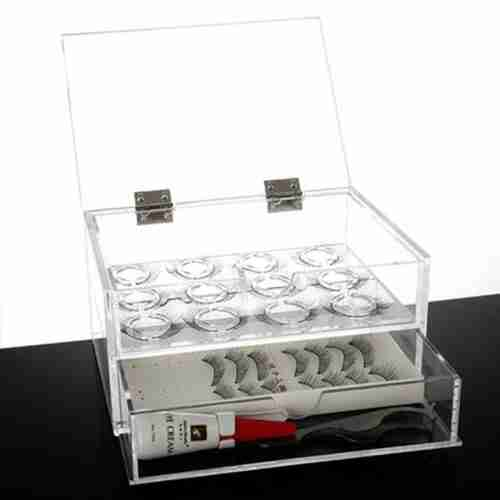 Acrylic False Eyelashes Extensions Display Holder Eyelash Bo