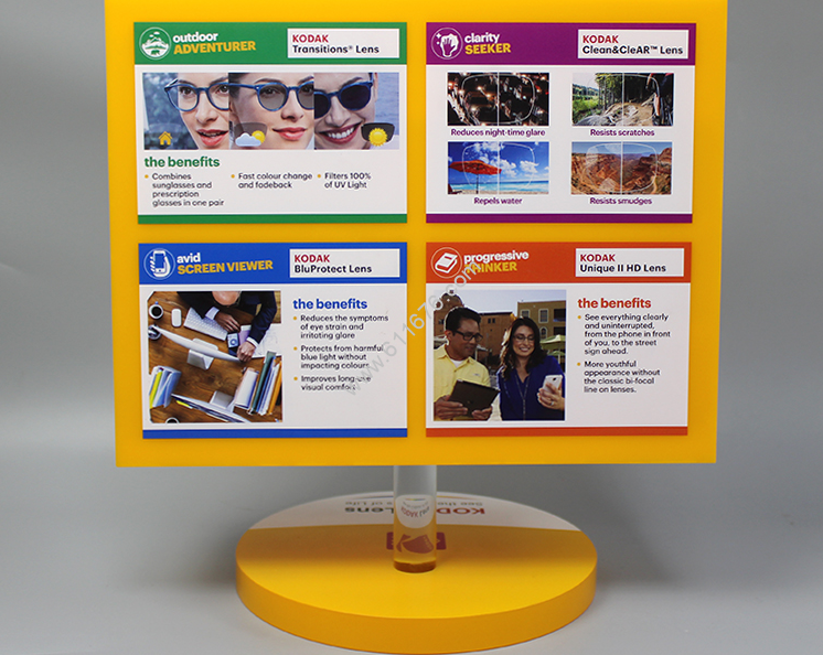 Custom Acrylic Rotating Retail Store Glasses Display Stand