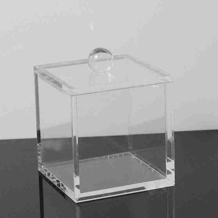 Clear plexiglass acrylic display box with hinged lid