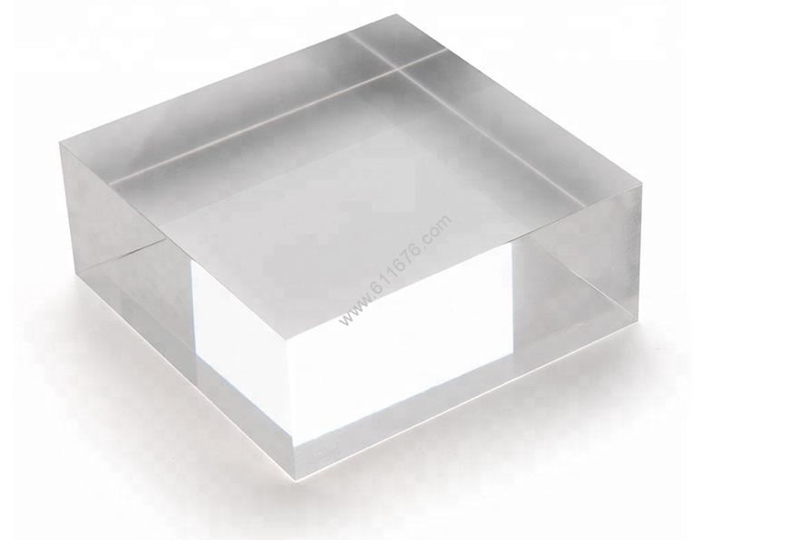 "Solid Clear Acrylic Block - 2"" X 3"" X 3"""