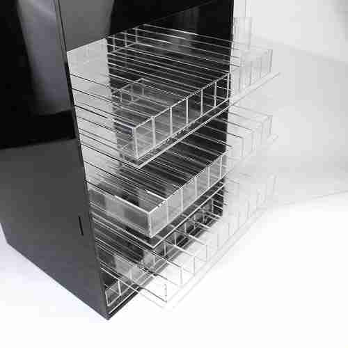 Wall-mounted custom plastic liquid display cabinet acrylic