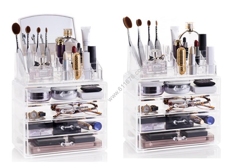Acrylic makeup organizer wholesale
