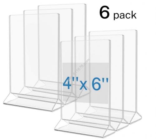 4 x 6 acrylic tabletop displayette