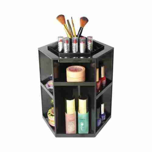 Acrylic 360 degree cosmetic rotating frame