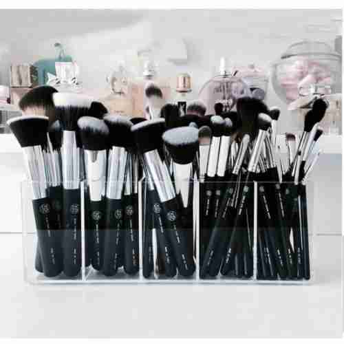 Clear 10 Dividers Brush Holders And Organizers