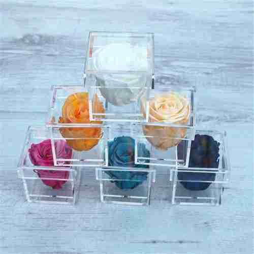 Custom Mini Acrylic Single Flower Box Case