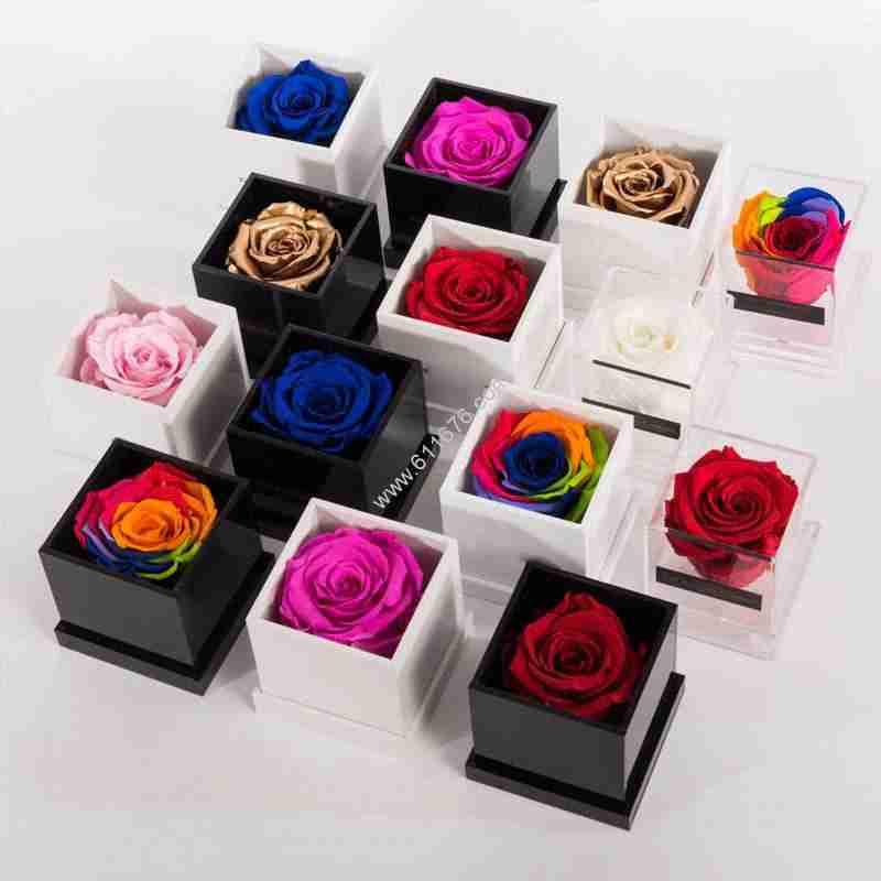 Custom Mini Acrylic Single Flower Box Case