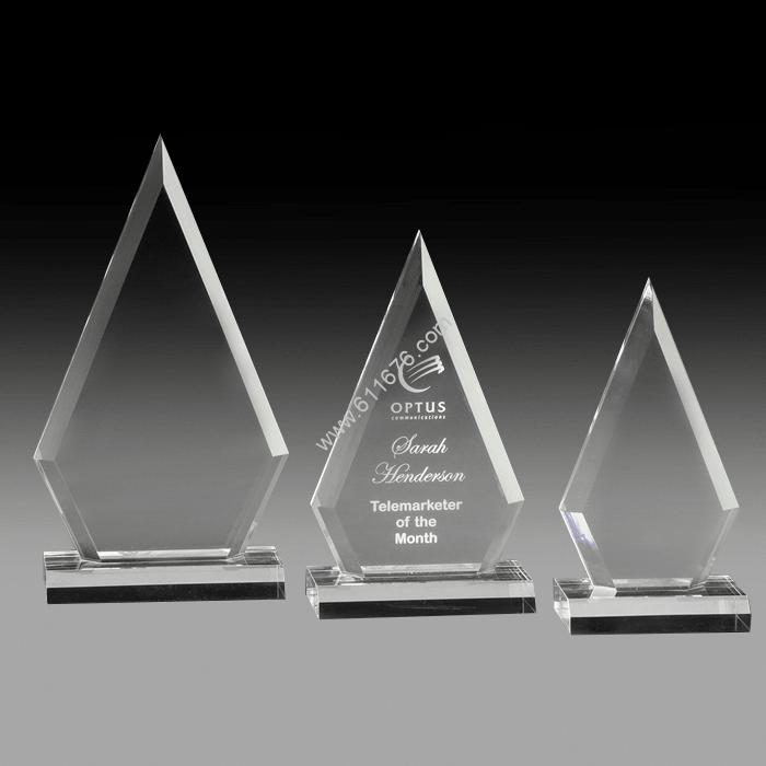 Arrowhead Acrylic Trophy On Base