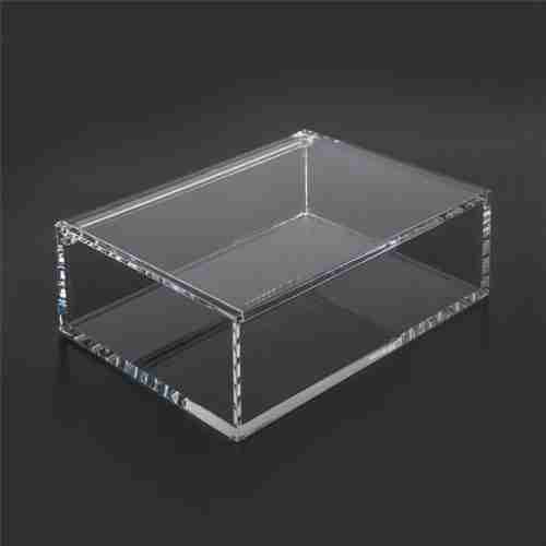 Custom clear acrylic boxes with hinged lids