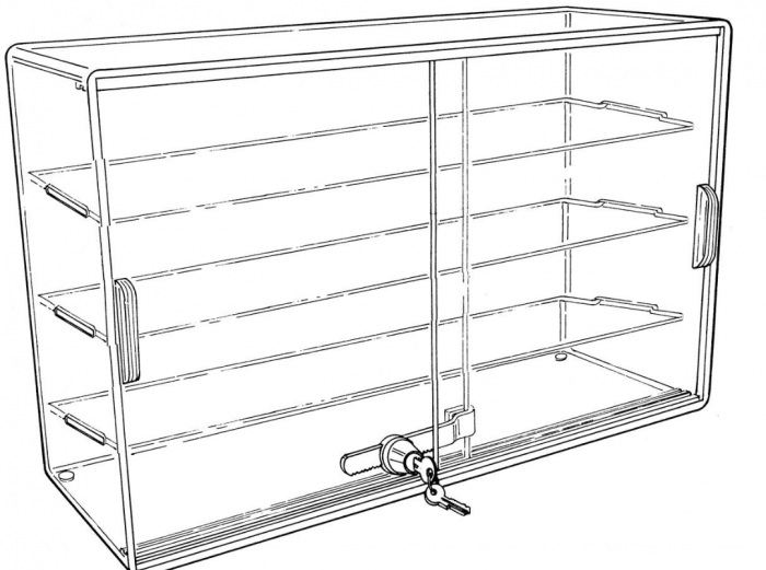 Acrylic Display Case with Sliding Doors