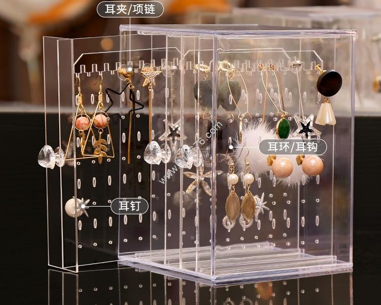 Acrylic earrings dust rack display item