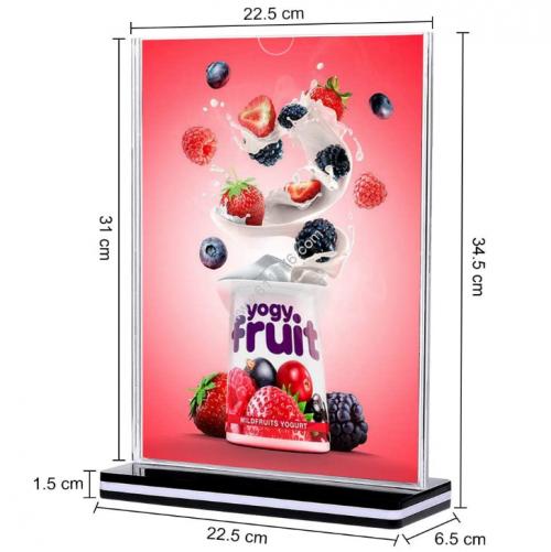 A4 acrylic table card holder