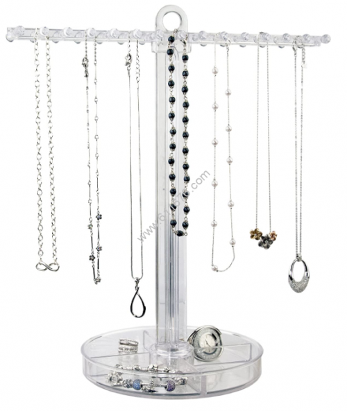 Clear acrylic necklace holder
