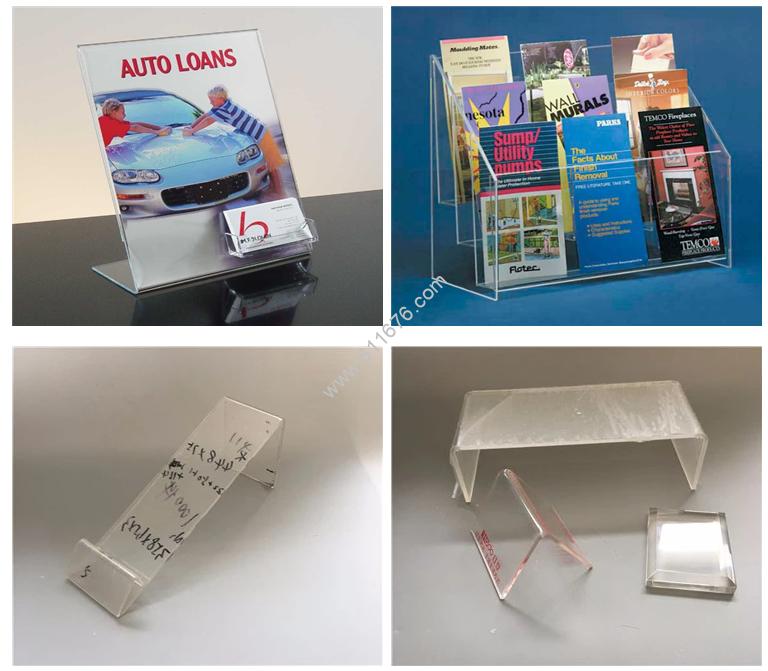 Plastic acrylic brochure holders
