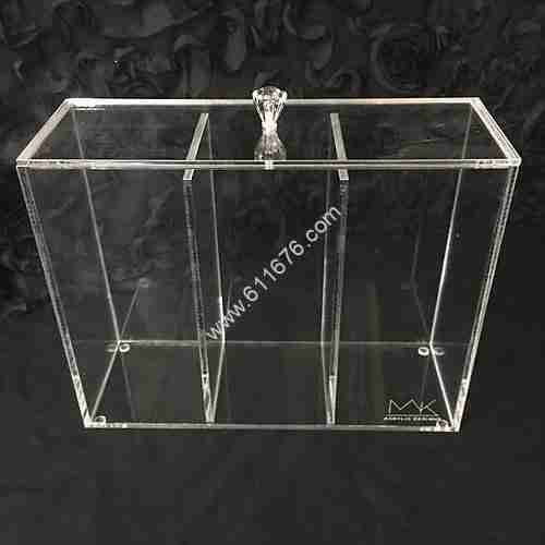 Clear acrylic brush holder