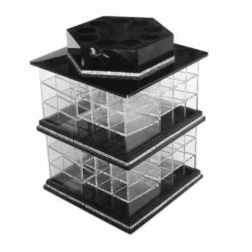 Rotating acrylic cosmetic storage box