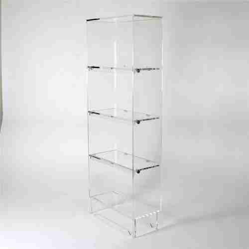 Custom 5 Tiers Acrylic Bookshelf Rack Wholesale