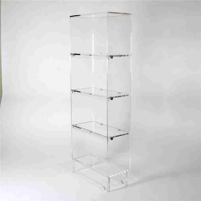 Custom 5 Tiers Acrylic Bookshelf Rack Wholesale