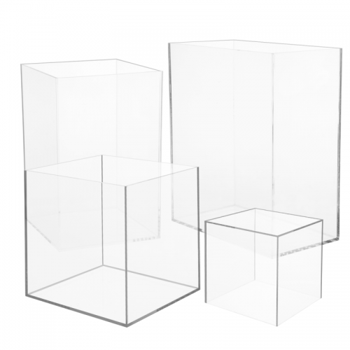 5 sided clear acrylic box - custom size