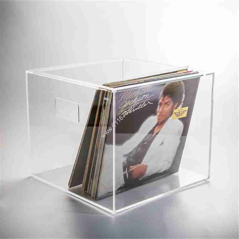 Clear Acrylic Vinyl Record Storage Box