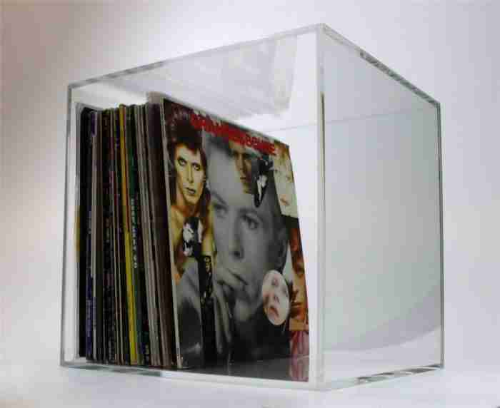 Clear Acrylic Vinyl Record Storage Box