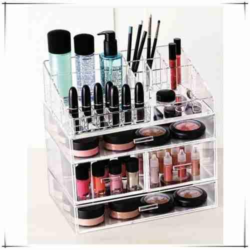 Modern Design 3mm Lucite Makeup Organizer