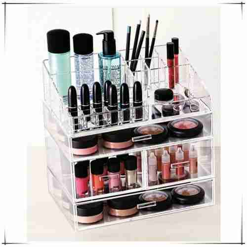 Modern Design 3mm Lucite Makeup Organizer