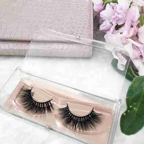 Acrylic Cosmetic Display Eyelash Organizer Stand Holder