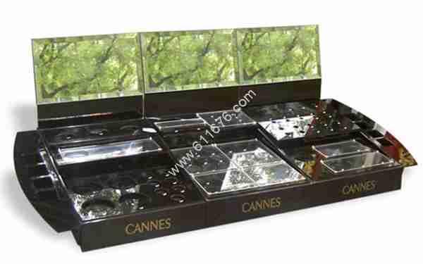 Acrylic black make-up display box