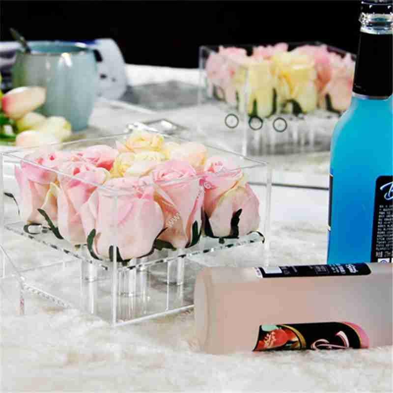 Custom Wholesale Acrylic Flower Box With Lid