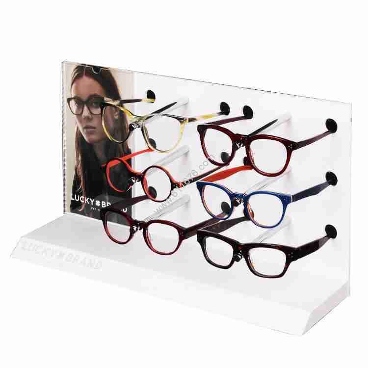 Acrylic glasses display stand customization