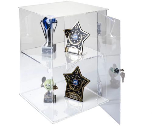 Custom Made Clear Acrylic Trophy Display Case With Lock