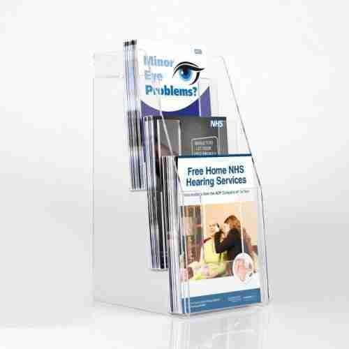 perspex brochure stands