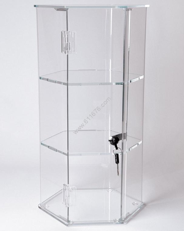Locking Hexagonal Cases Optional Shelves & Rotat