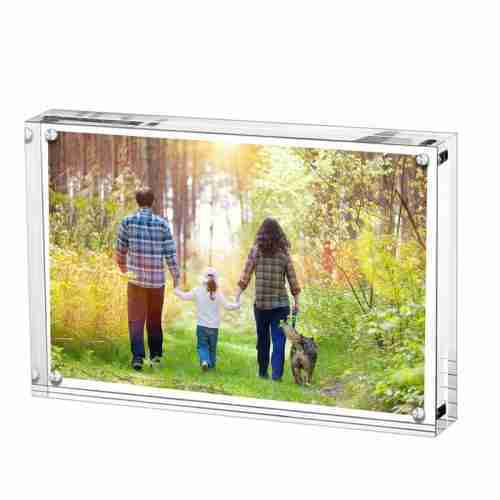 8*11 Inches Thick Acrylic Block Photo Frame