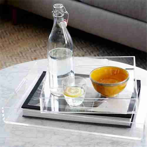 Clear Acrylic Storage Serving Tray
