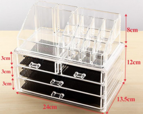 Acrylic makeup storage box lipstick display stand