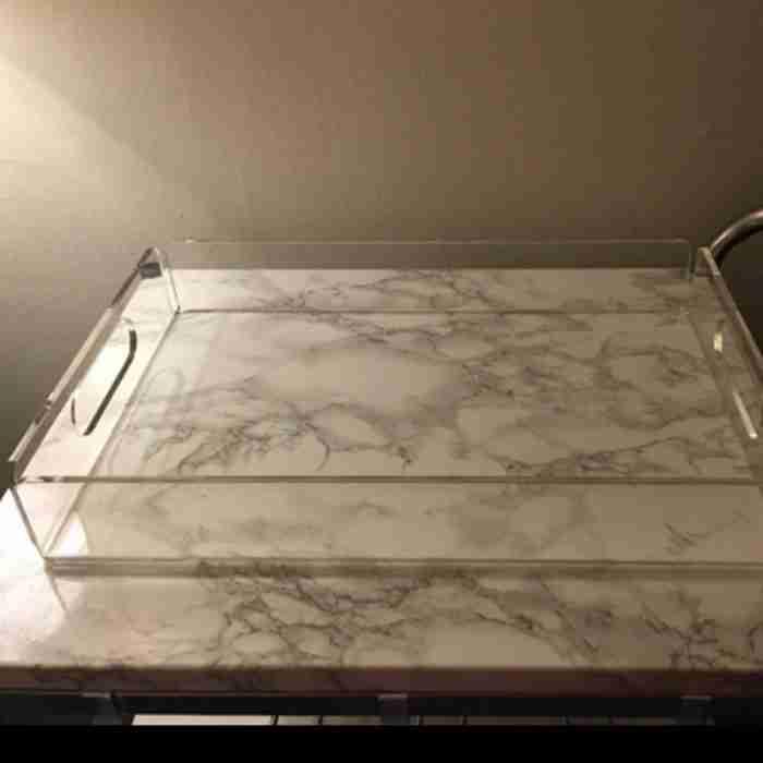 Custom Bar Clear Acrylic Perspex Tray
