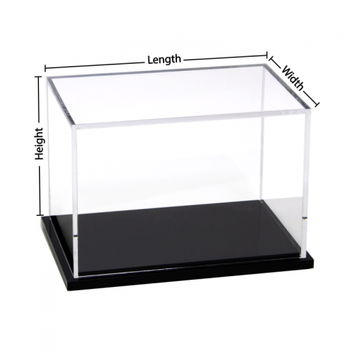 Custom black base acrylic display box
