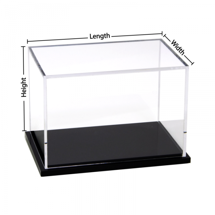 Custom black base acrylic display box