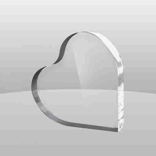 Heart Shape Acrylic Trophy