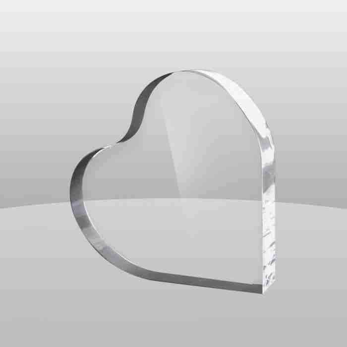 Heart Shape Acrylic Trophy