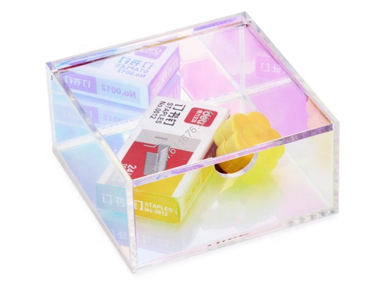 Colour Acrylic Jewellery Box With Lid