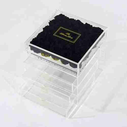 Acrylic flower box with drawer